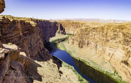 Colorado River at Glen Canyon Dam by mclement9748  river rock stone desert canyon USA Arizona River Colorado Navajo Page Lake Powell Reservation Glen C