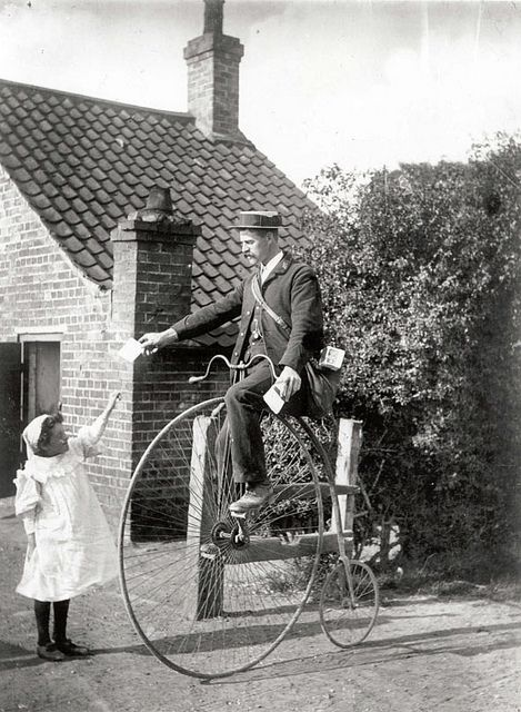 Postman On A Penny Farthing Penny Farthing Vintage Photos Photo