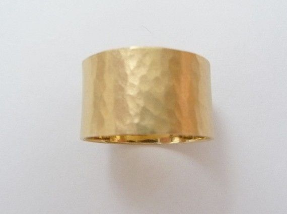 Love This Yellow Gold Wedding Band Hammered 12mm Wide Wedding By Havalazar 615 00 Yellow Gold Wedding Band Gold Wedding Band Hammered Wedding Rings