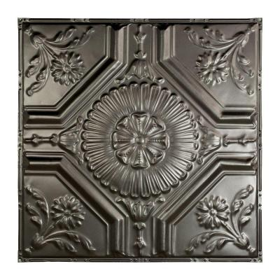 Rochester 2 ft. x 2 ft. Nail-up Tin Ceiling Tile in Vintage Bronze-T58-09 - The Home Depot