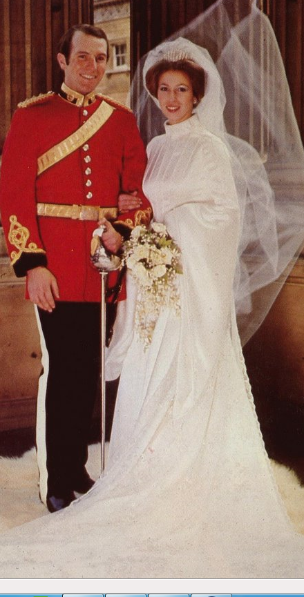 NOVEMBER 14, 1973: The wind catches the veil of Princess Anne ...