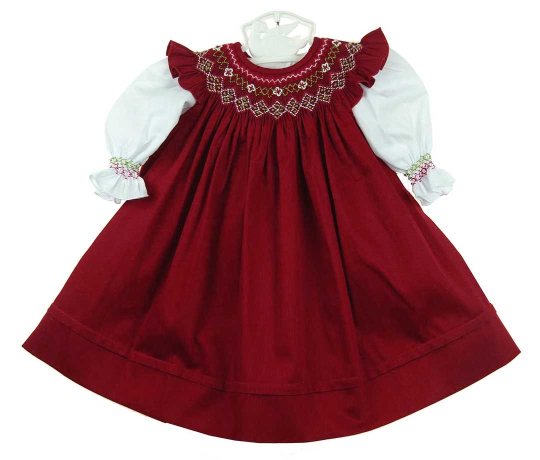 ecc18185f97a NEW Will'Beth White Slip Dress and Dark Red Smocked Pinafore $70.00 ...