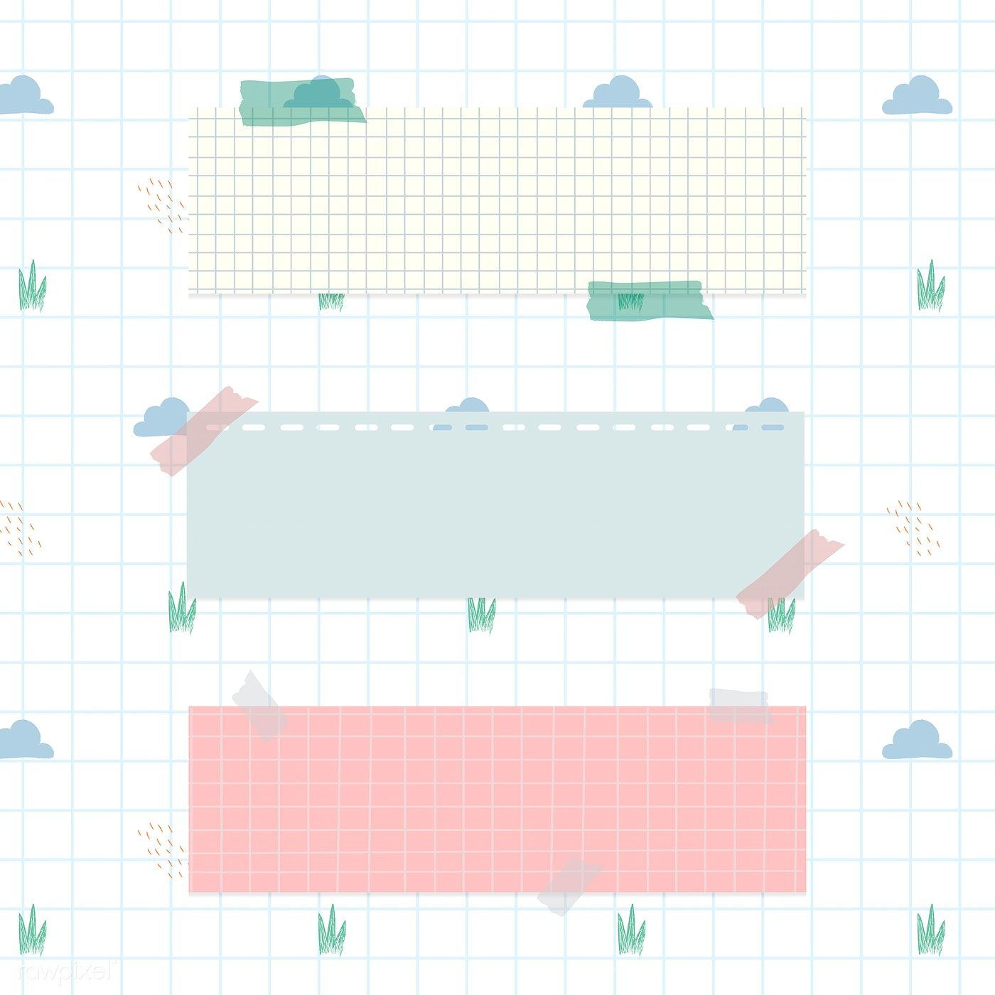 Download Premium Illustration Of Pastel Notepapers On Cloud