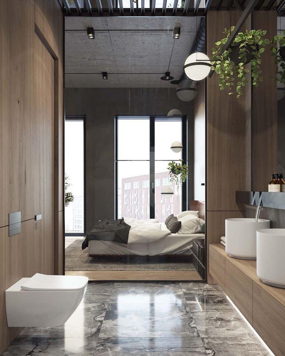 Das Badezimmer Ist In Ihr Schlafzimmer Eingebaut