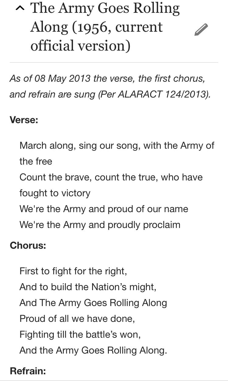 Army Song Page One Patriotic Pride Pinterest