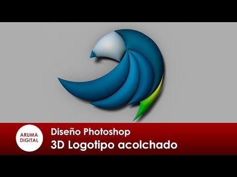 (84) Photoshop 319 3D Logotipo acolchado con trazados - YouTube