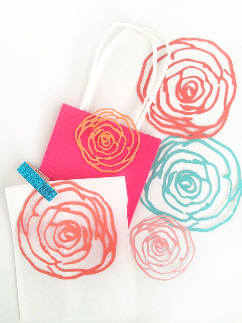 These floral embellishments are perfect for decorating your cards, gifts, table settings and so much more!