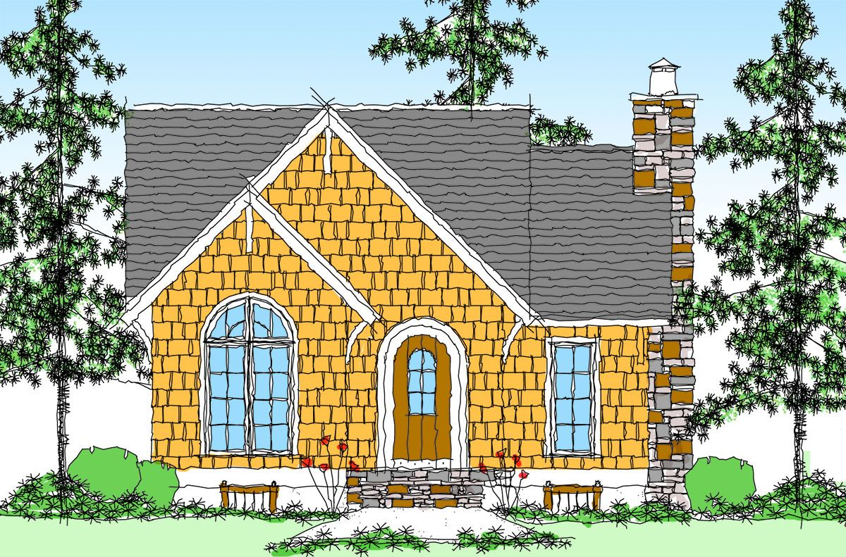 Itty Bitty Cottage Home Plan 26671GG