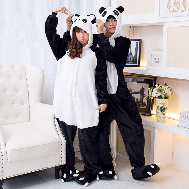 4e0b8a5074e46 Купить товар Пижама женщины панда Onesies для взрослых отдыха сон пижамы  панда пижамы фланелевые животных пижамы одна часть в категории Пижамные  комплекты ...