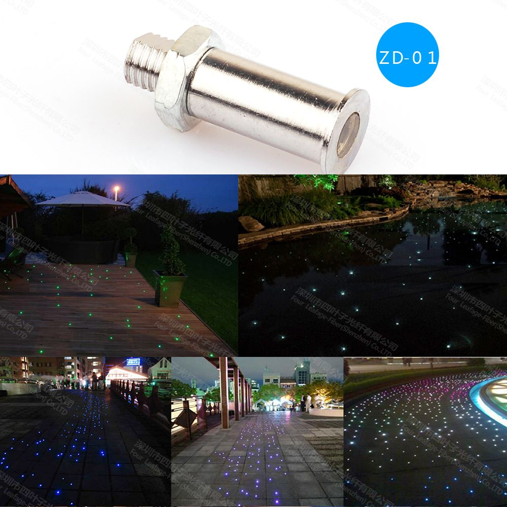 Zd 01waterproof Safely Use Easy Installation Fiber Optic Pool Light End Fitting For Swimming Sauna Floor Lighting Pool Light Floor Lights Installation