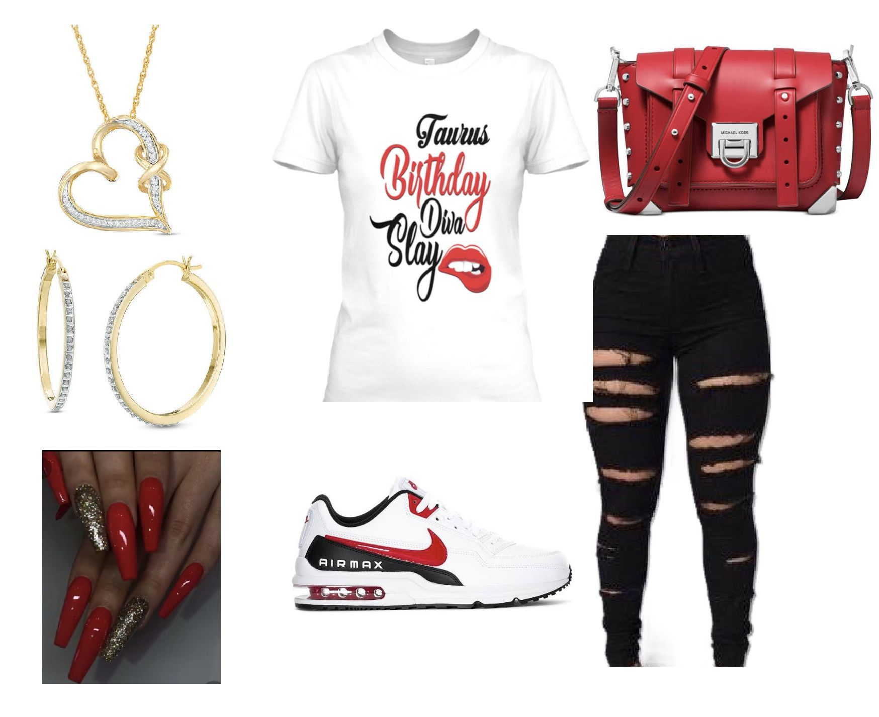 DIVA Tshirt Red and White