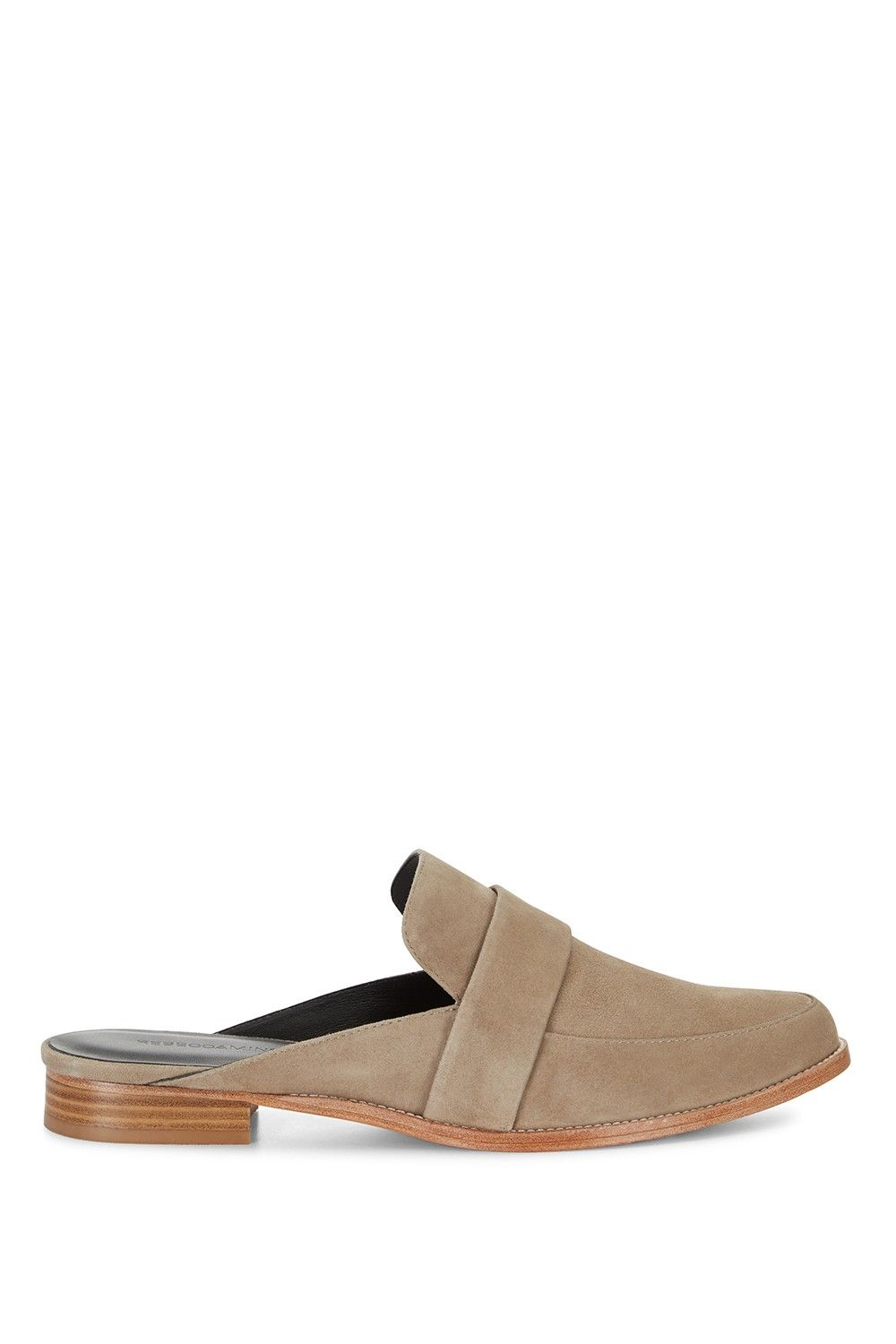 Mika Slipper - Footwear remix. The ease of suede, the elegance of loafers, and the super-casual vibes of a slide are mashed up into the cool-girl shoe of the season. A micro heel adds a sense of polish and gives you about a quarter-inch of height (we'll take it).
