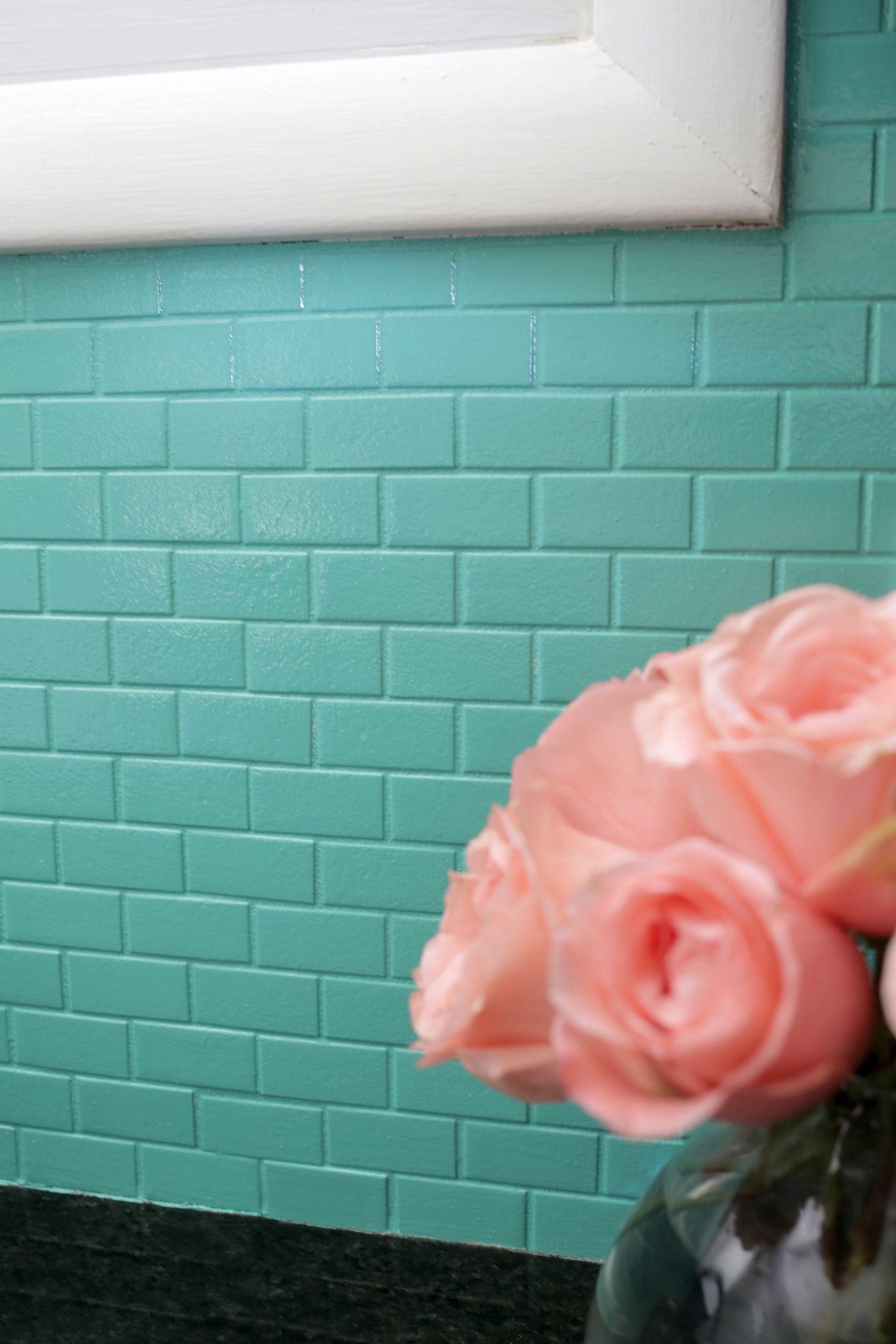 How to Paint a Tile Backsplash | #PaintTiles Ideas | Pinterest | House