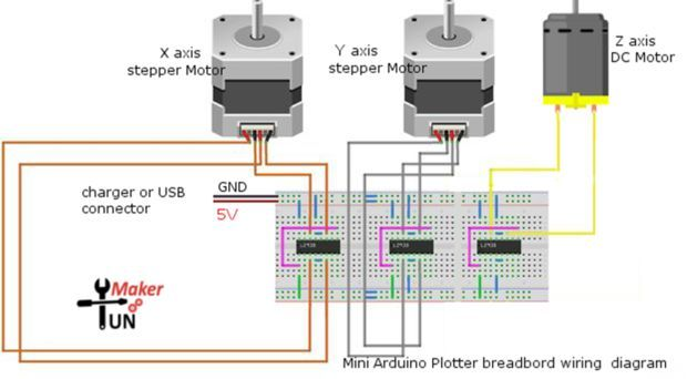Mini Arduino Plotter Without A Servo Motor Arduino