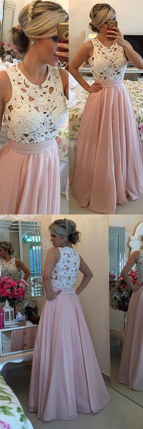 Chiffon prom dress, Prom dresses