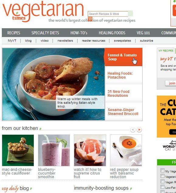7 Vegetarian Recipe Sites For The Struggling Former Meat Eater Vegetarian Recipes Recipes Pcos Recipes