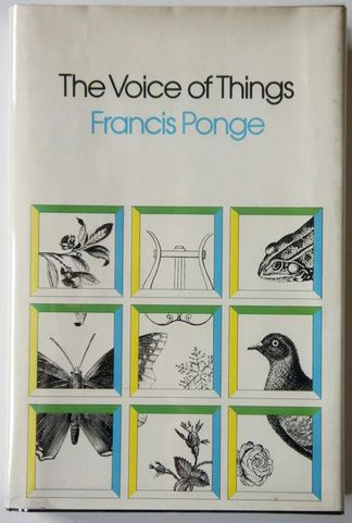 The Voice of Things by Francis Ponge. McGraw Hill, 1972. Hardcover, First Edition. Cover by Roy Kuhlman. www.roykuhlman.com