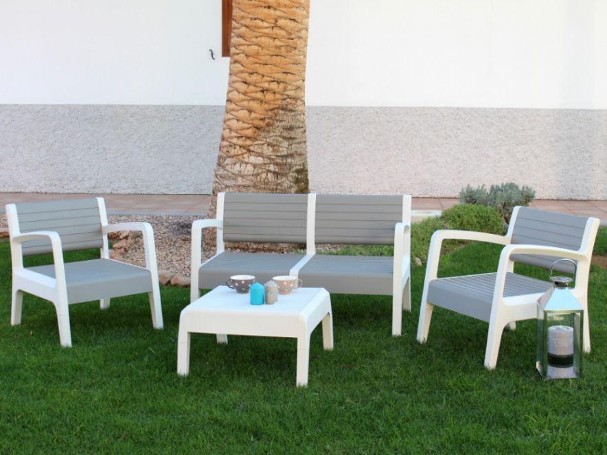 Salon Jardin Pvc Canape 2 Pers 2 Fauteuils Table Basse Pertaining To 20 Impressionnant Des Photos De Salon De Jardin Pvc