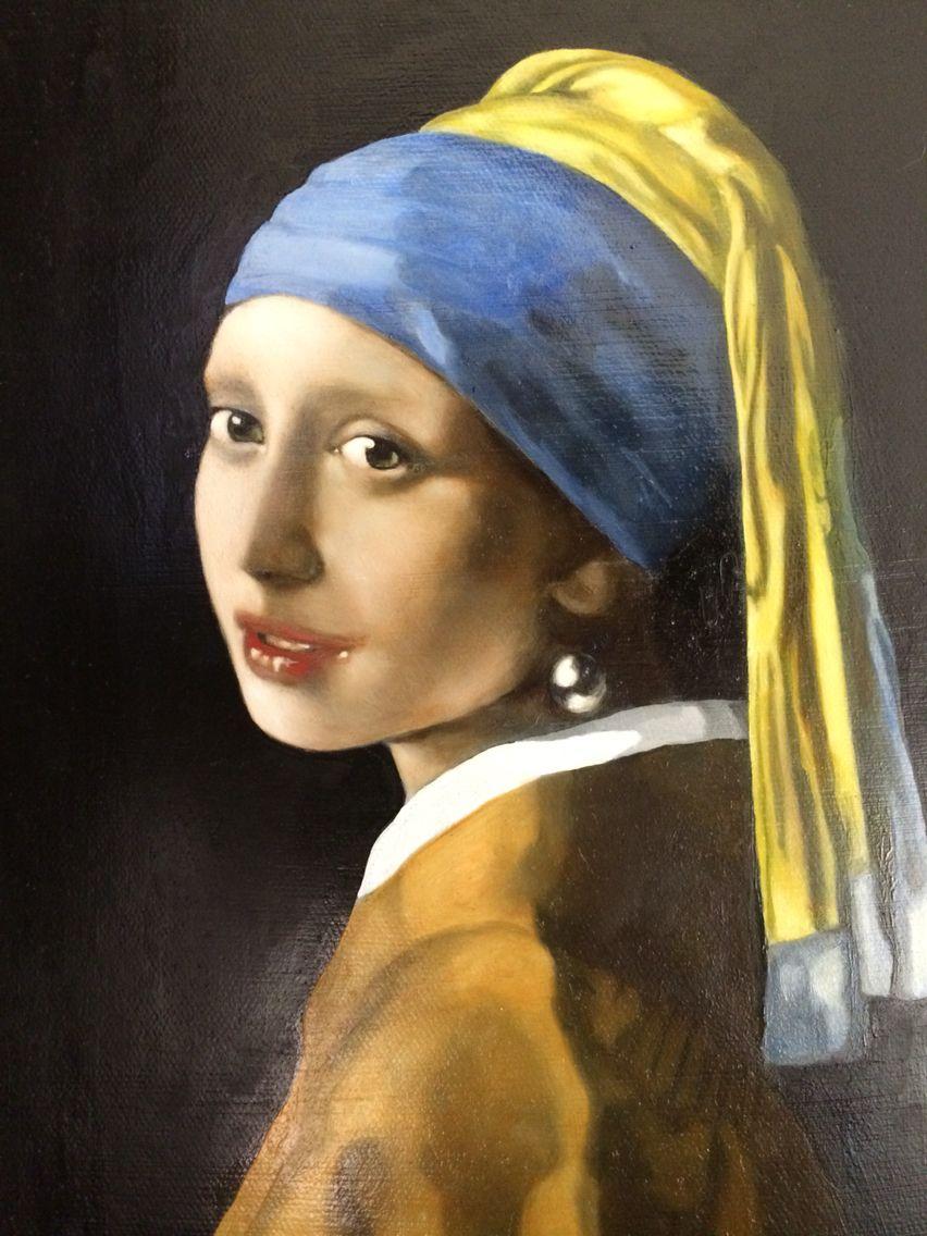 Girl with pearl earring copy Vermeer paintings, Girl