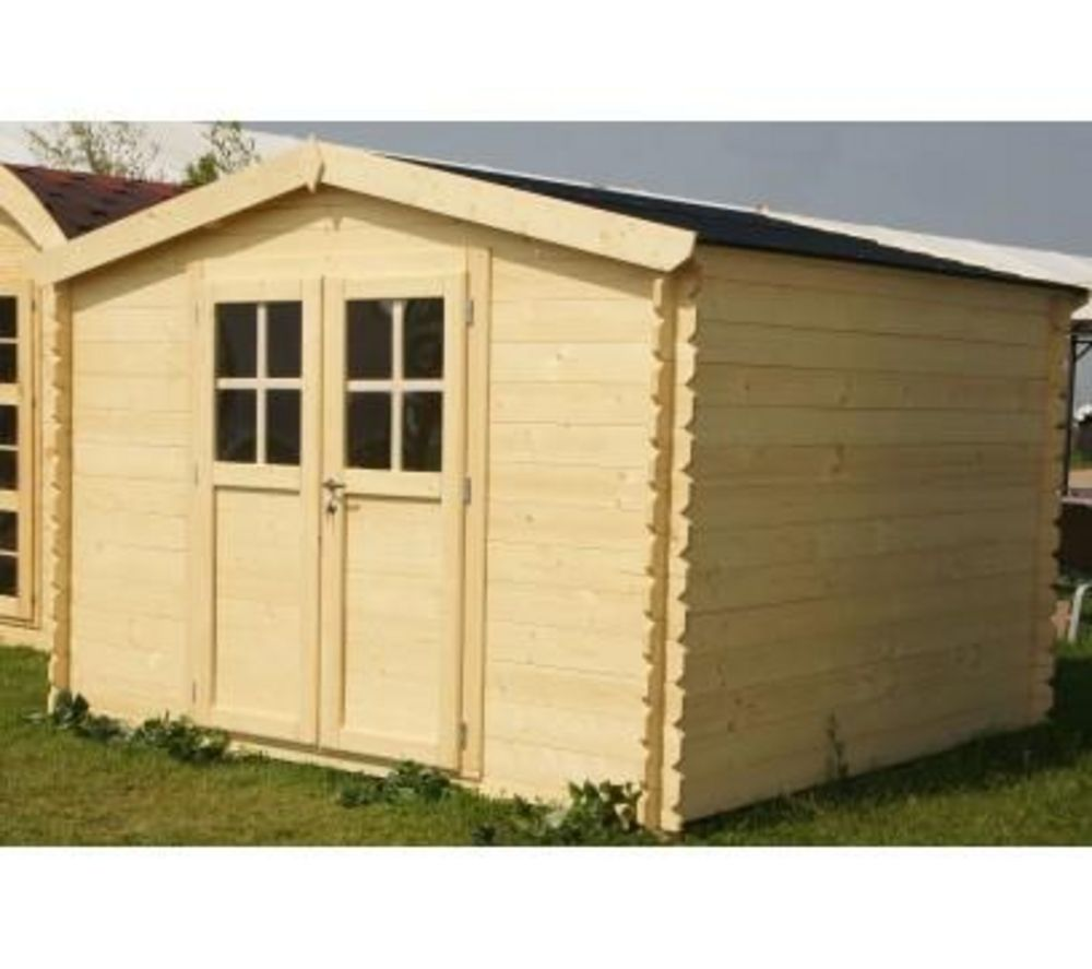 Abri de jardin SOLEIL en bois 3x2 m - Épaisseur paroi 28 mm prix ...