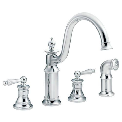 Moen Waterhill 2 Handle High Arc Kitchen Faucet At Menards Moen