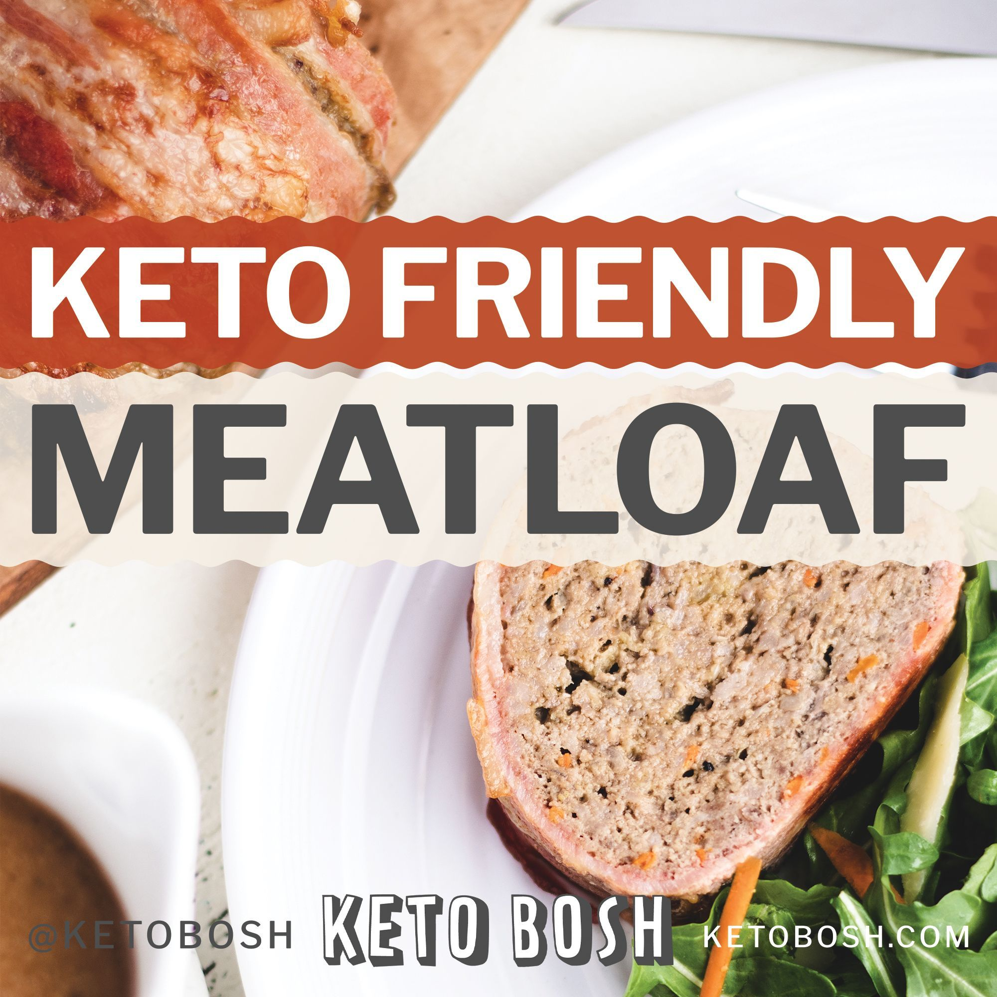 Keto Meatloaf Recipe Easy Low Carb With Onion Gravy Keto Bosh Recipe Bacon Wrapped Meatloaf Meatloaf Recipes Meatloaf