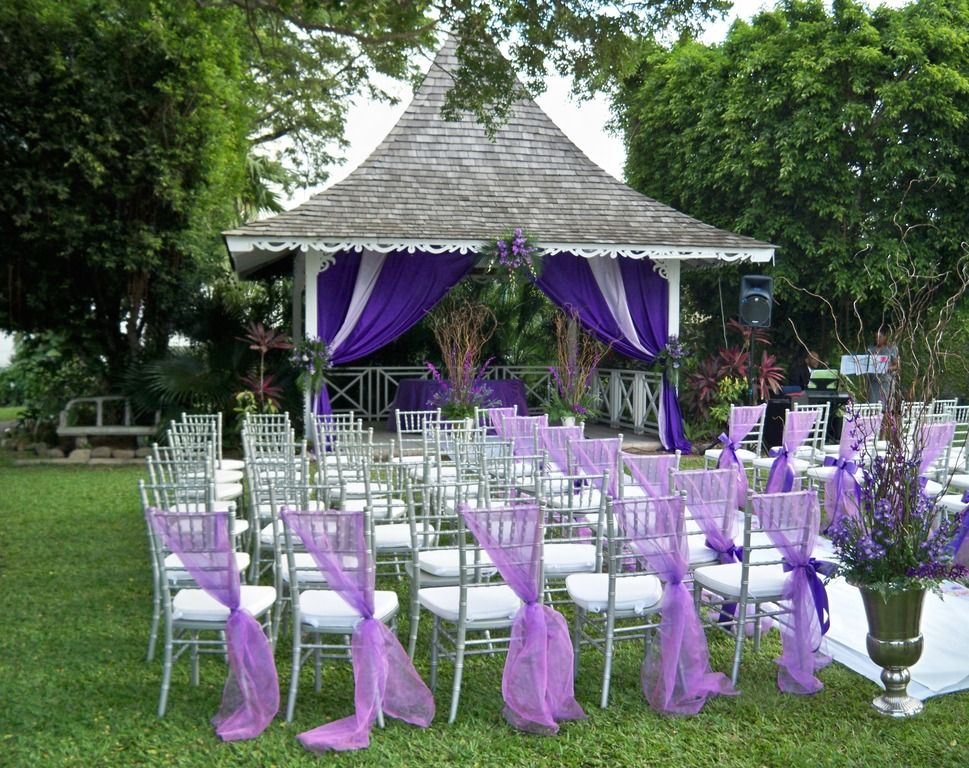 So pretty i love what they did with the chairs it adds some extra memorable wedding gazebo wedding decorations and themes how junglespirit Image collections