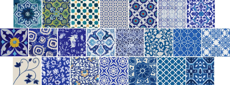 Kitchen Bathroom Indian Blue Pottery Tile Wall Decals 22 Designs X 2 44 Pcs Wall Tiles Bathroom Wall Tile Blue Bathroom