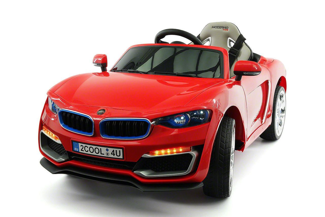 bmw style 12v electric kids ride on car with parental remote red
