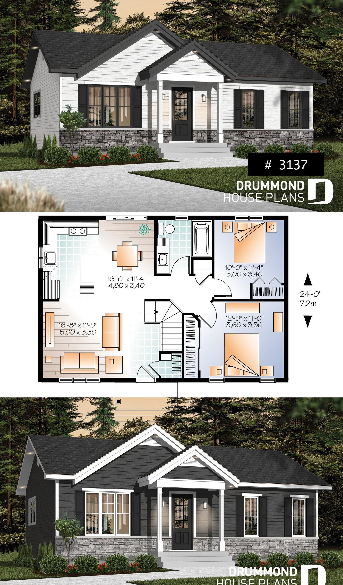 Small And Affordable Bungalow Smallhome In 2020 Small House Design Exterior Small House Design Plans Small House Design