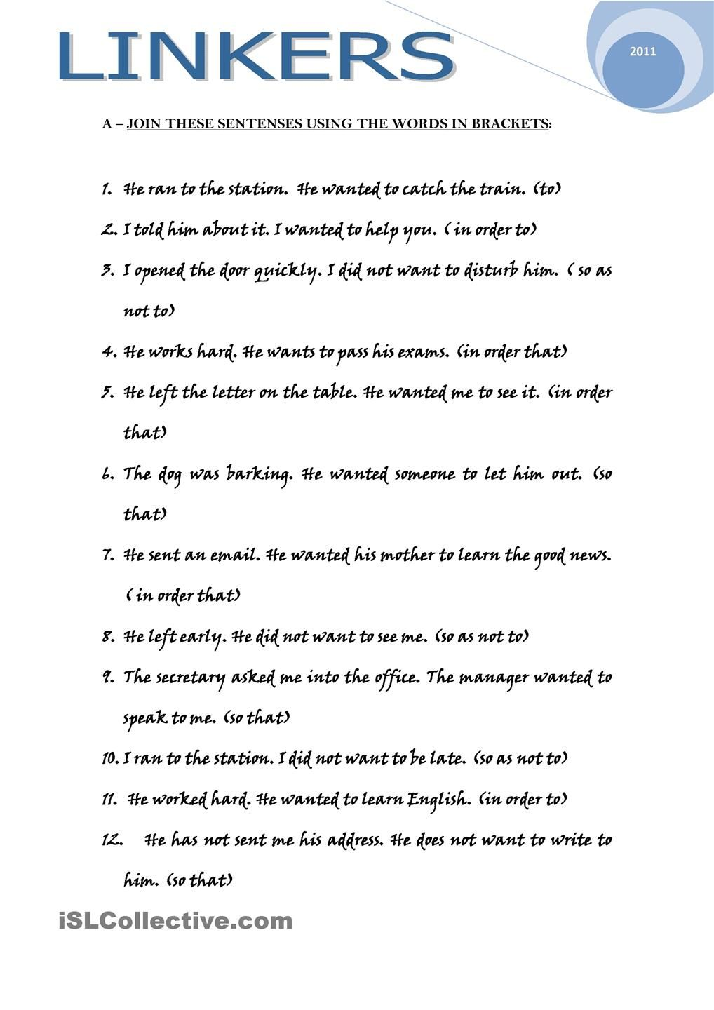 Workbooks worksheets on conjunctions for grade 8 : LINKERS | Conjunctions | Pinterest | Grammar lessons, Teaching ...