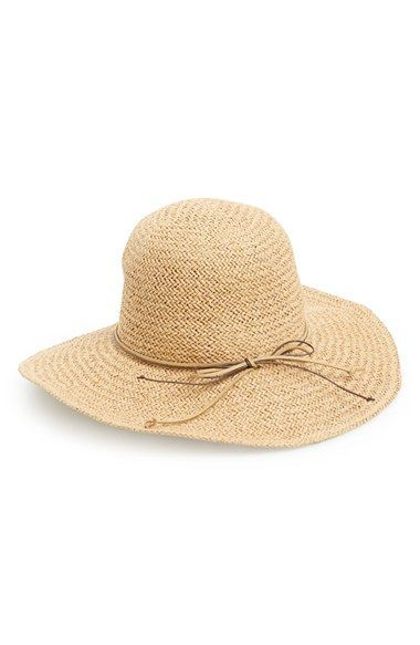 Junior Women s David   Young Floppy Straw Hat with Floral Band - Brown 8c8e61c7b277
