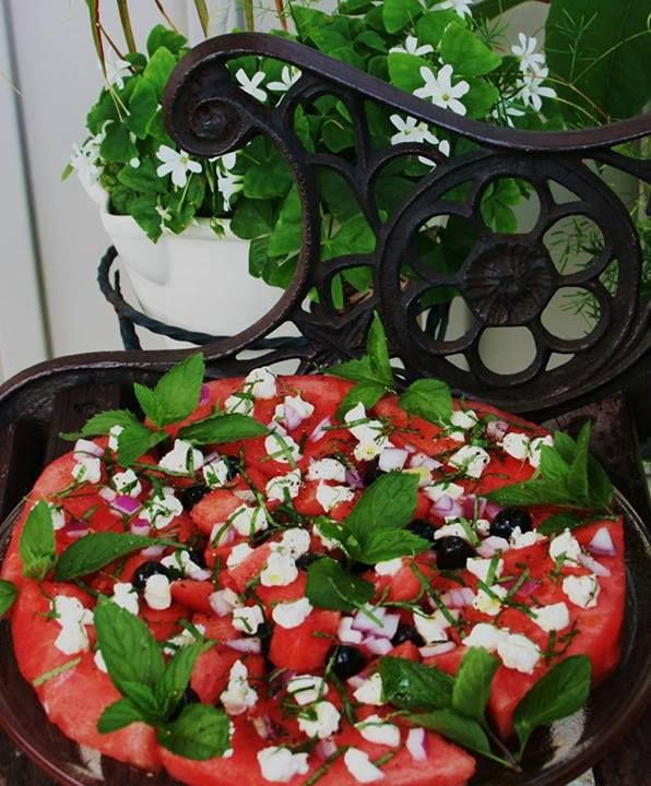 Watermelon Feta Salad Recipe - Egyptian Watermelon Salad