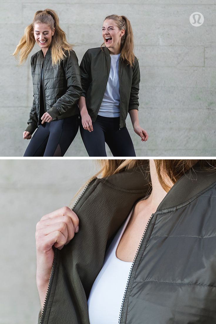 59ae4d67437 When both sides are your good side—the reversible Non-Stop Bomber by  lululemon.