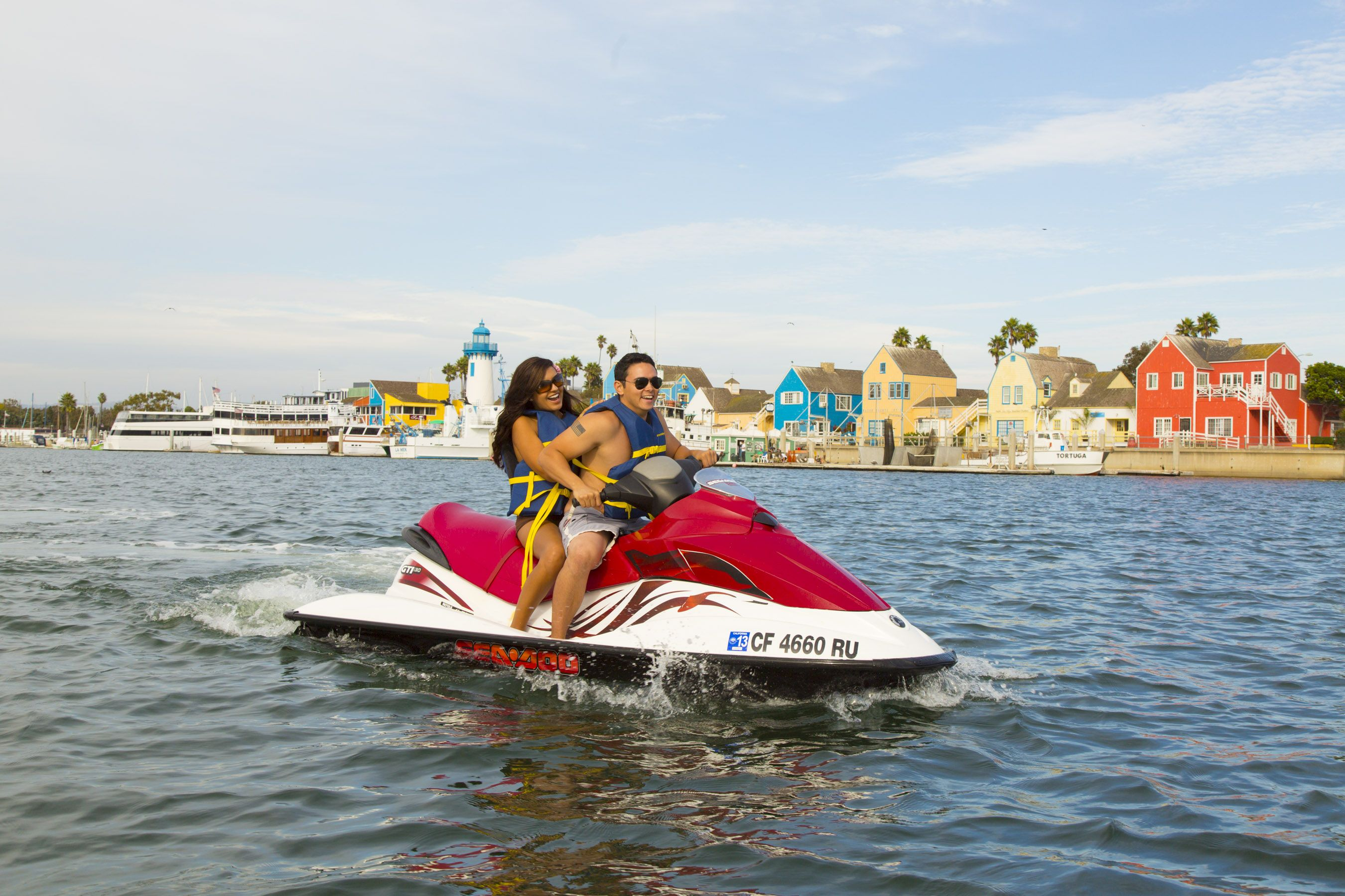Hit the waters on a jetski rentals are available by