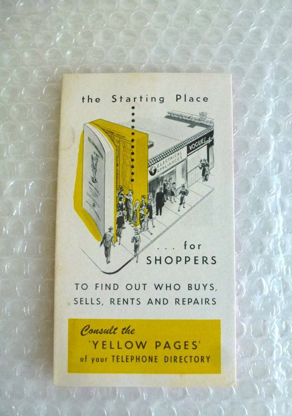 placing an ad in the yellow pages