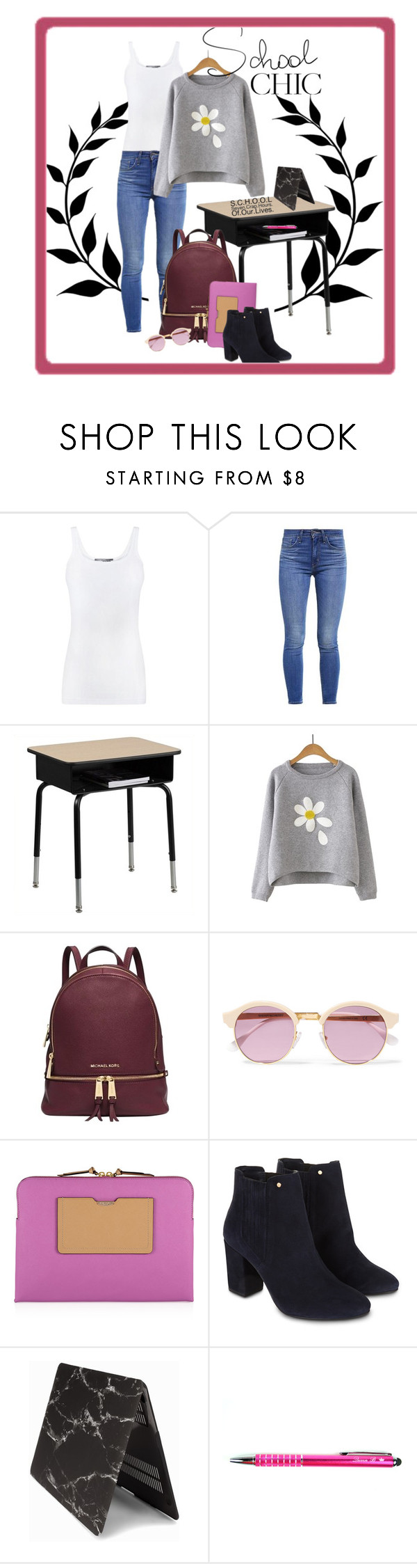 """School chic"" by britt-catlynne-weatherall on Polyvore featuring Vince, Levi's, Flash Furniture, Michael Kors, Sheriff&Cherry, Henri Bendel and Monsoon"