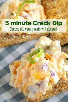 5 Minute Crack Dip~ Easy appetizer for Entertaining!!
