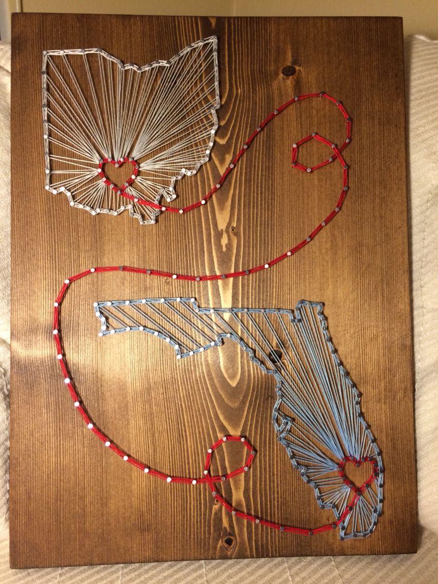 yarn art color garden : Ohio Florida State String Art Order From Kiwistrings On Etsy Www Kiwistrings
