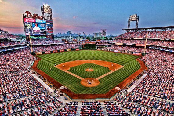 Philadelphia Phillies Citizen S Bank Park Color Etsy Baseball Stadium Phillies Philadelphia Phillies