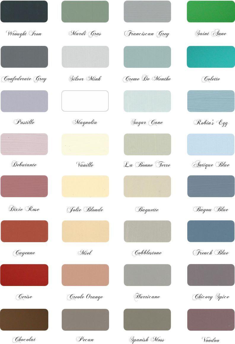 Color Chart Maison Blanche Paint Company Painted Furniture Colors Paint Color Chart Maison Blanche Paint Colors