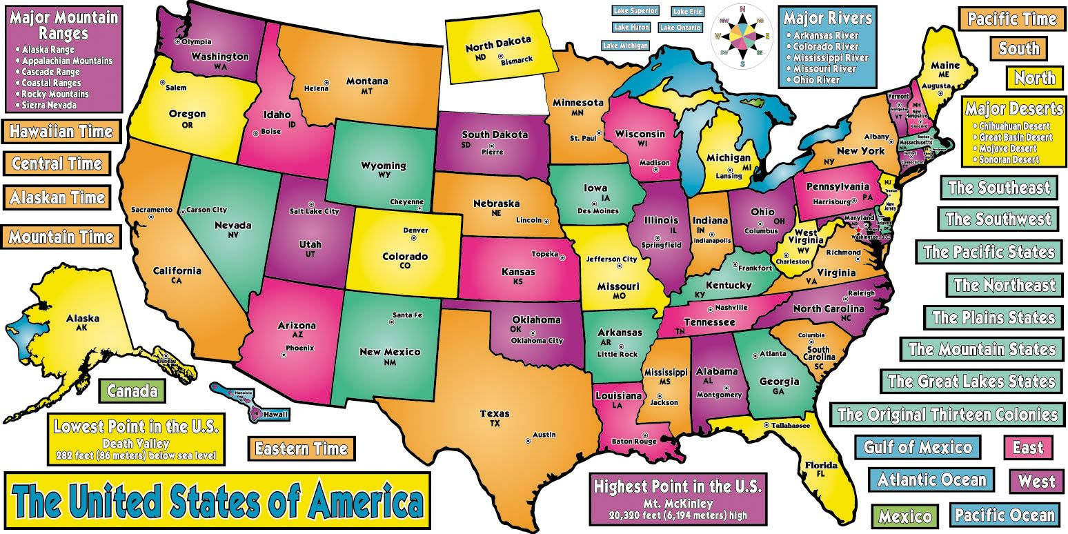 Map of the United States Bulletin Board Set | Classroom ...
