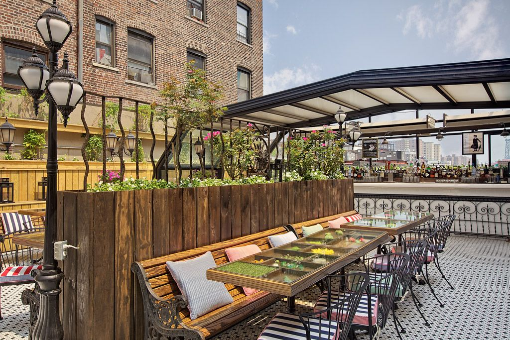 Fun French Cuisine Nyc Brunch Dinner Lower East Side Manhattan Ny Rooftop Bars Nyc Rooftop Design Rooftop Restaurant