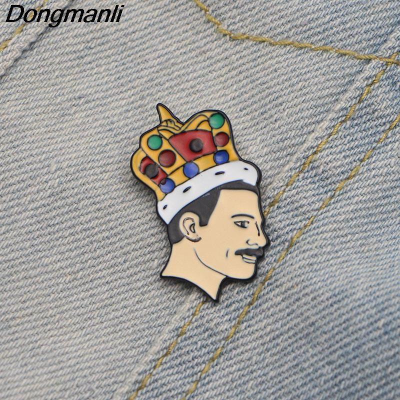 Singer band Music Art Freddie Mercury Pin Soft Enamel Brooch Pin badge Jewelry
