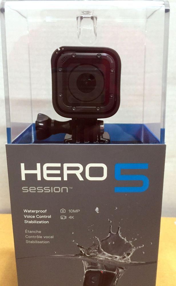 New Gopro Hero5 Session Black Hd Waterproof Video Camera 4k Black Go Pro Hero 5 Gopro Gopro Video Camera Action Camera