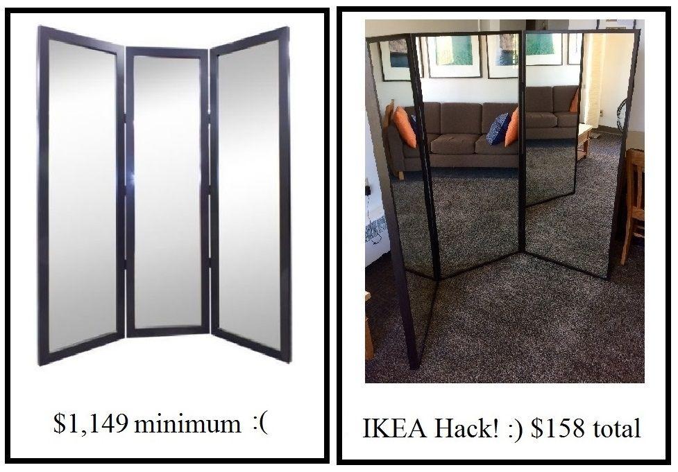The Best Tri Fold Ikea Mirror Hack