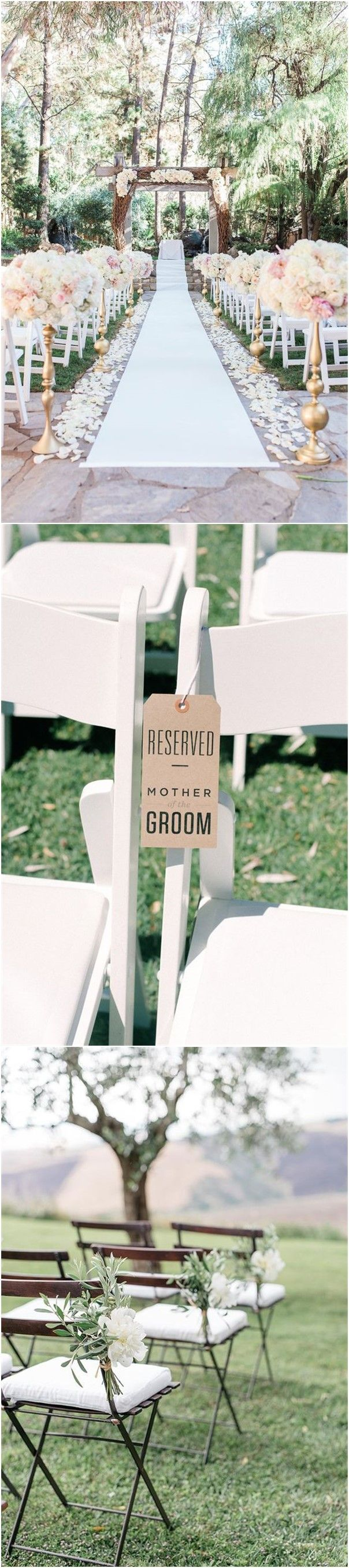 25 Rustic Outdoor Wedding Ceremony Decorations Ideas | Pinterest ...