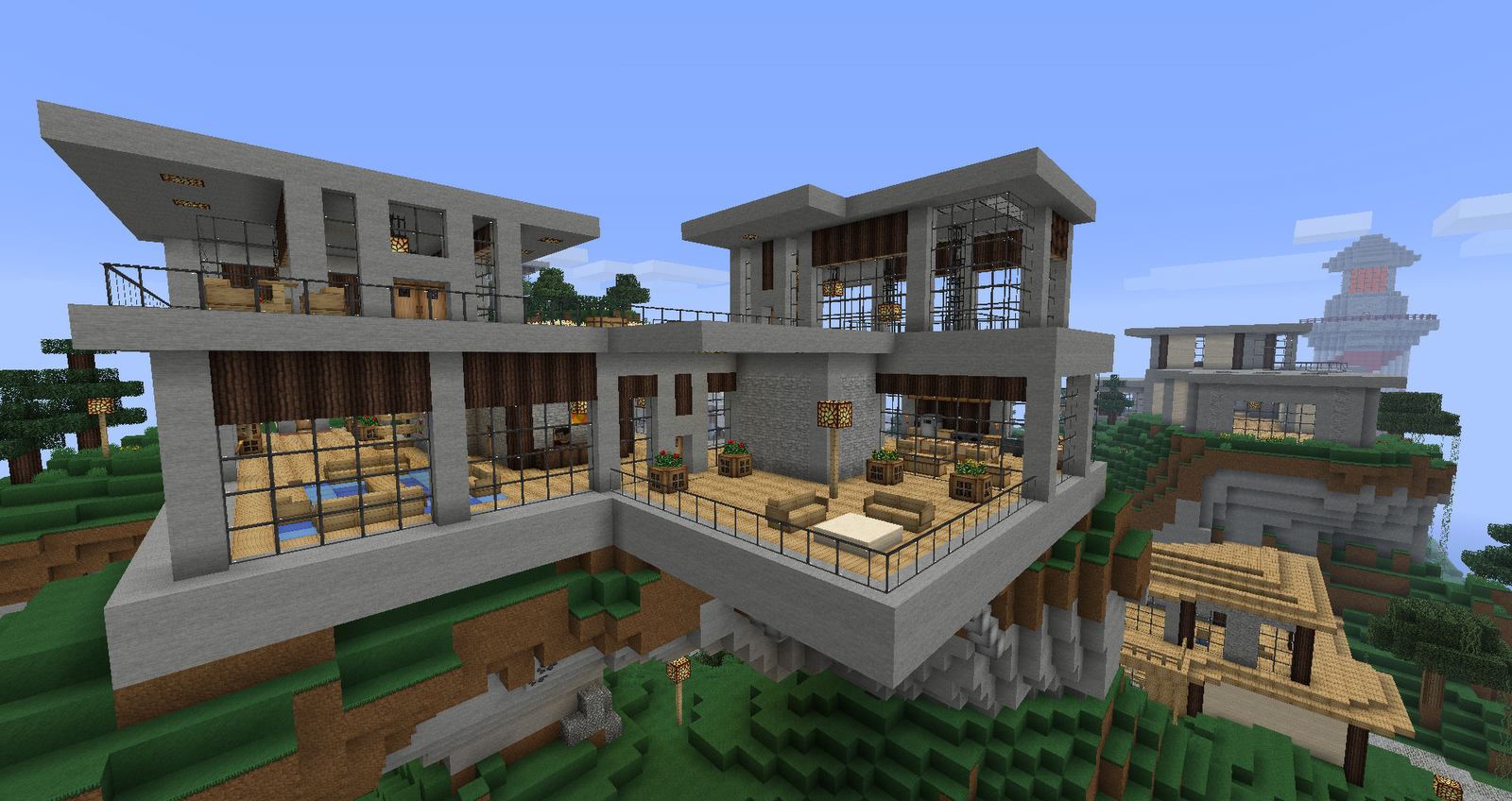 Architecture Houses Minecraft venturiantale minecraft modern house