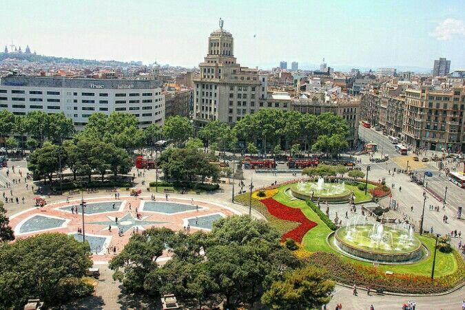 Plaça Catalunya.