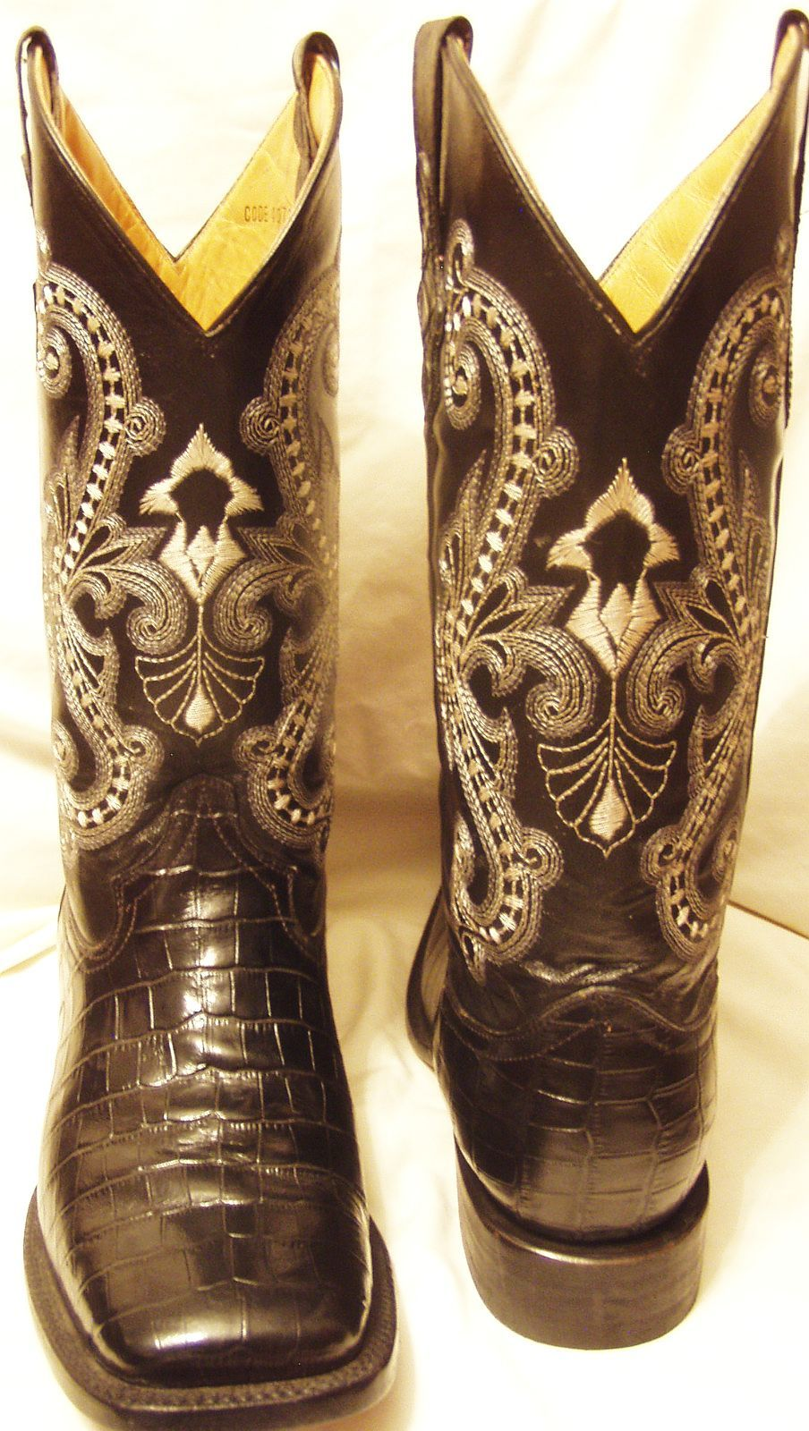 Ferrini Boots Black Leather Women S Pre Owned Brand Name